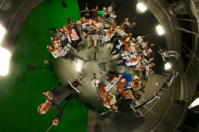 The Symphony Orchestra L'Interpret records the music for the Arboretum video at Magical